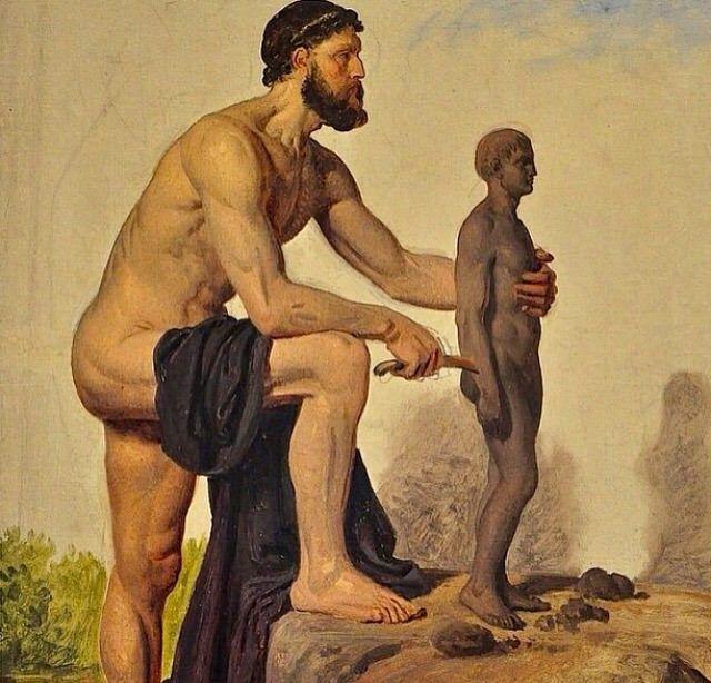 Prometheus Creating Man Constantin Hansen, &qu...