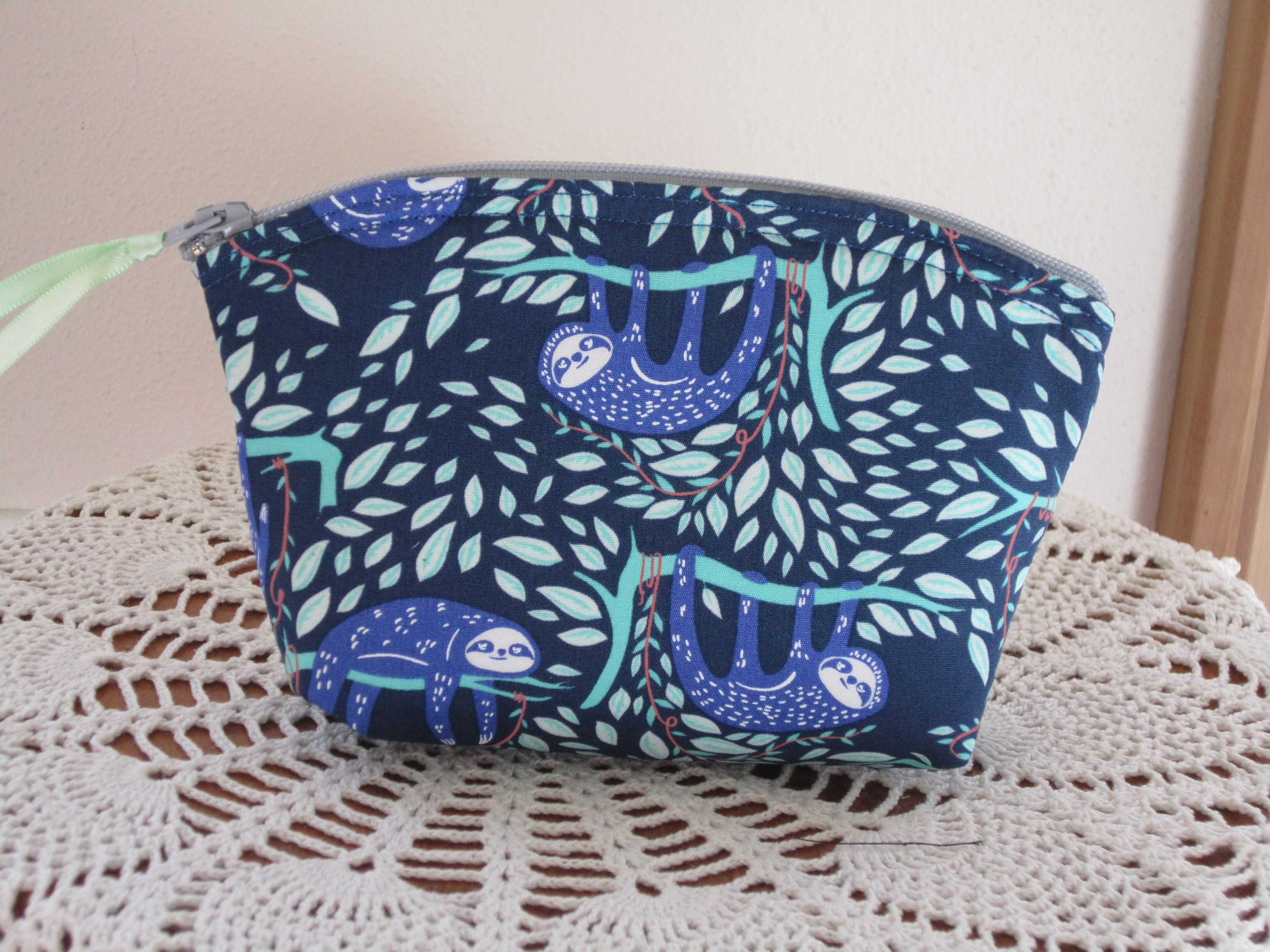 Sloth Pouch Essential Oil Case Sloth Cosmetic Bag Clutch