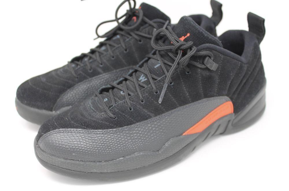 more photos 87035 ed5ba Nike Air Jordan 12 Retro Low Mens Black Max Orange Anthracite 308317-003 Sz  10  Jordan  BasketballShoes