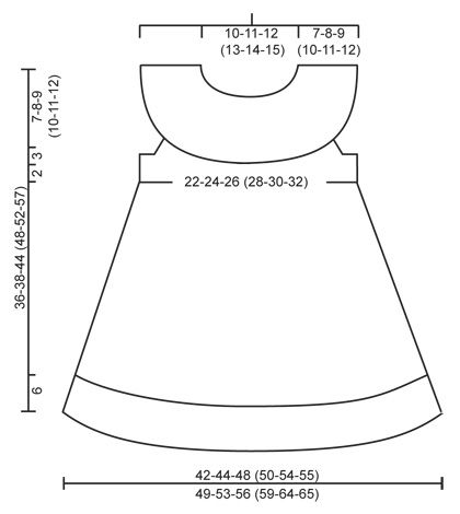 Little Hedda – Robe tricotée avec bordure en dentelle et empiècement rond et nœud pour cheveux au point mousse en DROPS Cotton Merino. Pour bébé et enfant de 1 mois à 6 ans. – Patron gratuit de DROPS Design   – COCUK  ELBISELERI