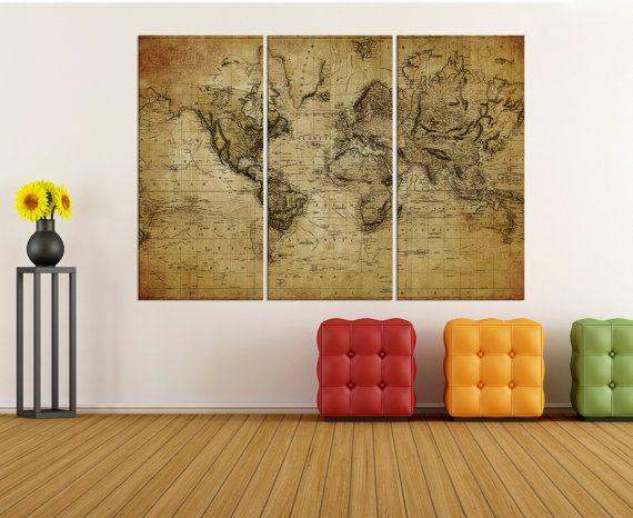 large canvas art rustic world map wall print world map wall art canvas modern