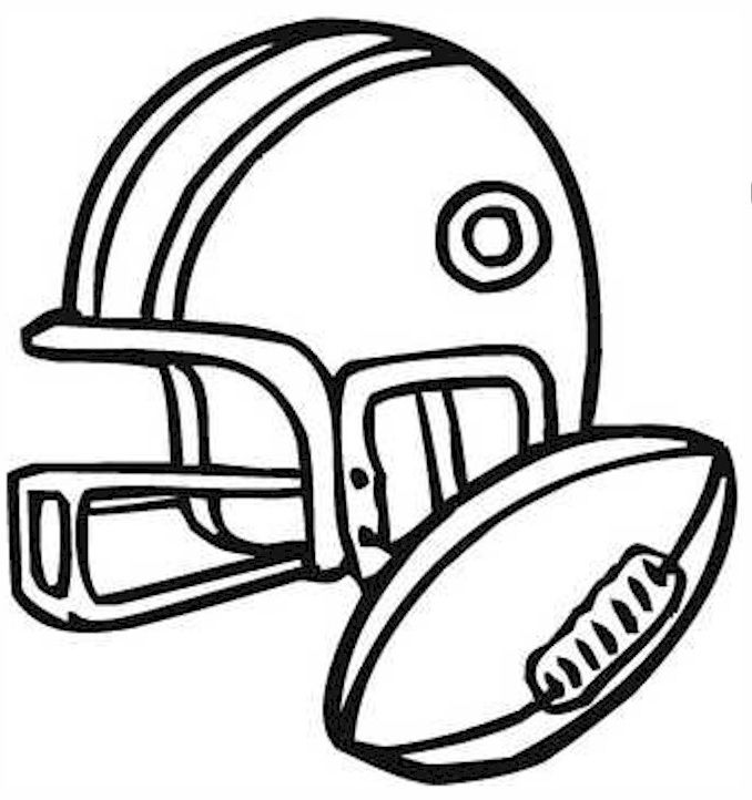 helmet and football | Coloring Pages | Pinterest | Helmets and Clip art