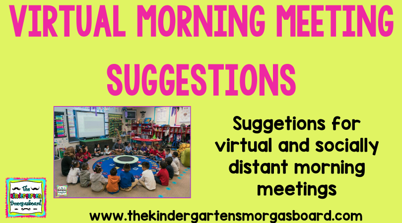 Virtual Morning Meeting Suggestions in 2020 Morning