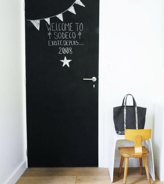 Tableau Noir Et Peinture Ardoise Dans Une Chambre D Enfant