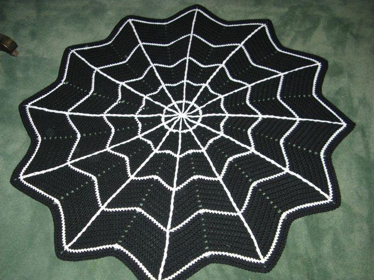 Crochetspiderwebpattern Pattern Spider Web Rug Crochet