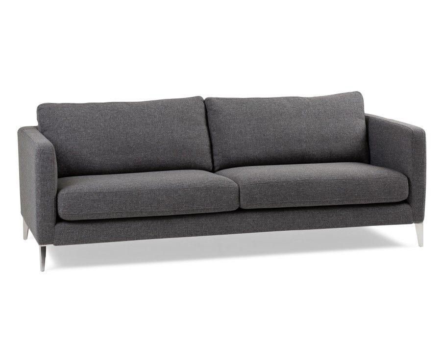 Dark Grey 3 Seater Sofa Structube Carine Modern Grey Sofa