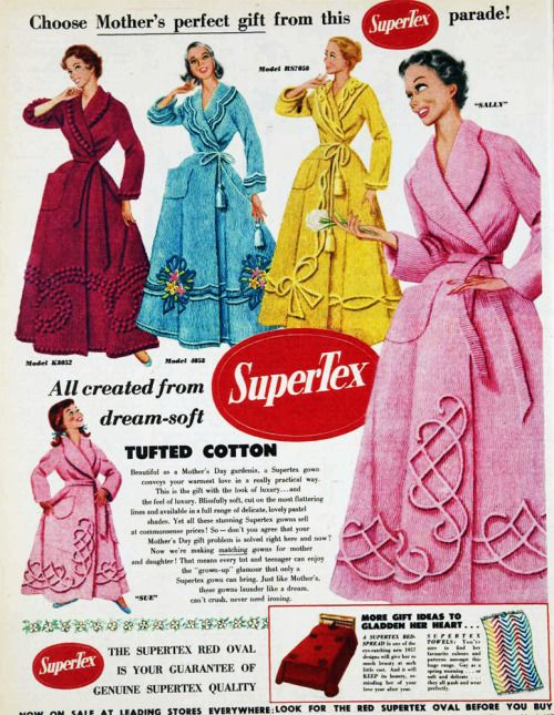 Choose Mother\'s perfect gift, chenille dressing gowns, 1957 ...