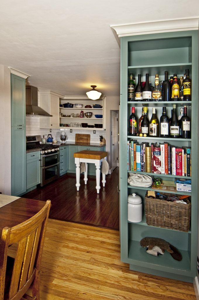 Kitchen Cabinet End Bookshelf