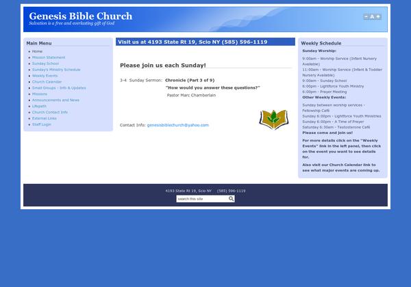 Genesis Bible Church In Scio Ny Http Www Genbible Org Via