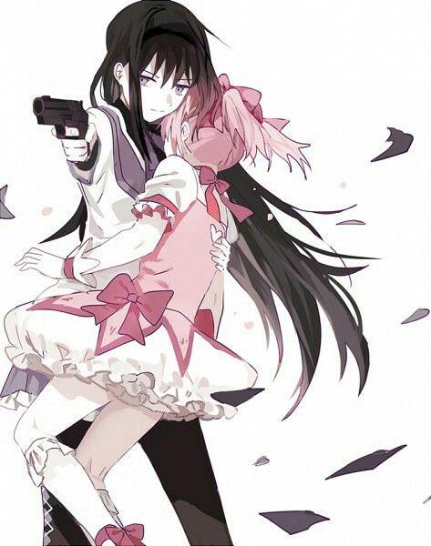 Homura And Madoka Madoka Magica Yuri Anime Madoka Magica Anime