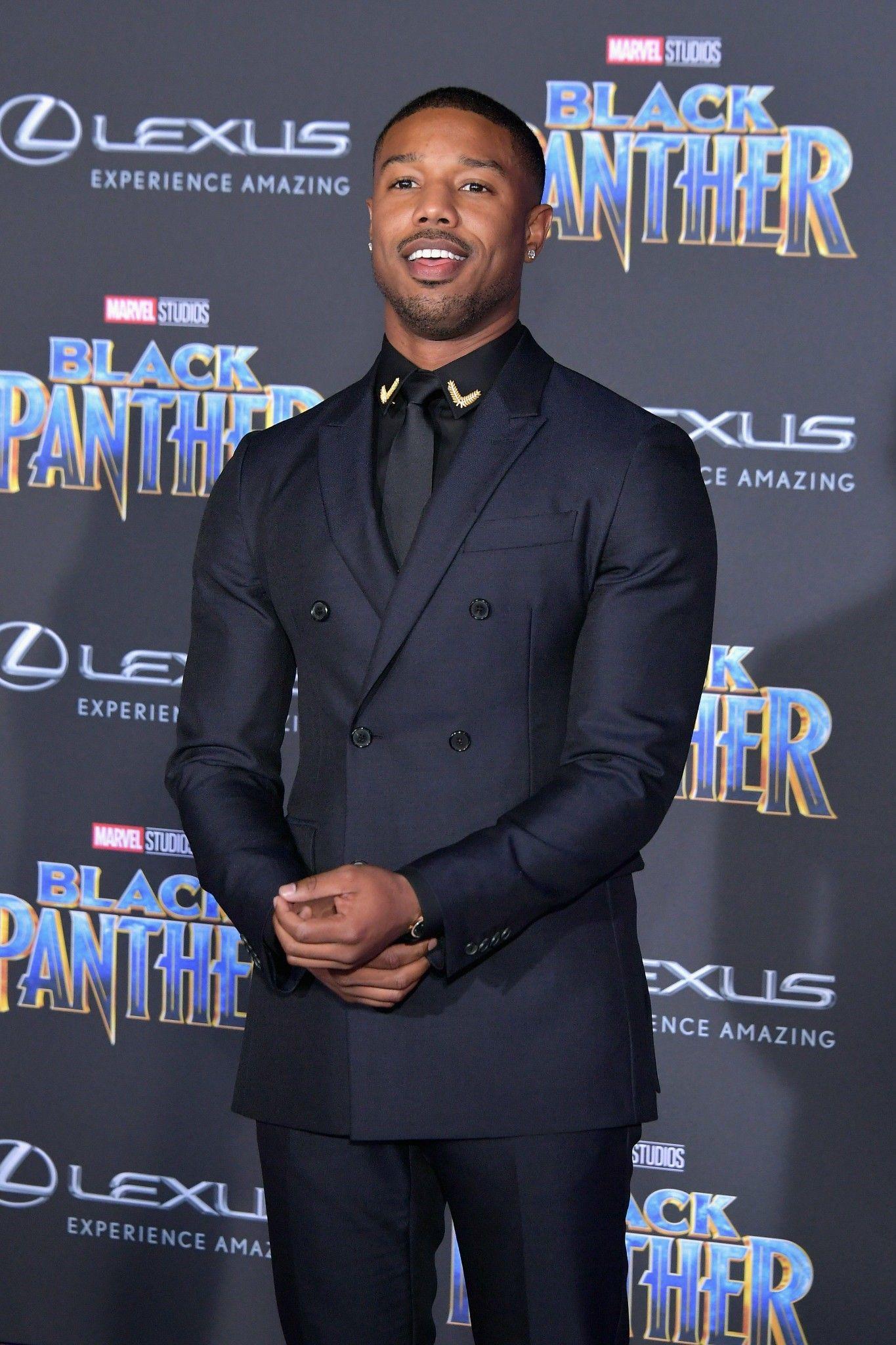 c1ab124d68a Michael B. Jordan at the Black Panther Premiere 1/29/2018 | Michael ...