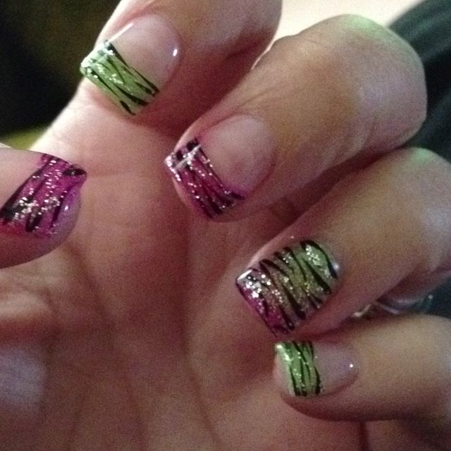 Zebra Summertime Nails Nail Design Nail Designs I Like Pinterest