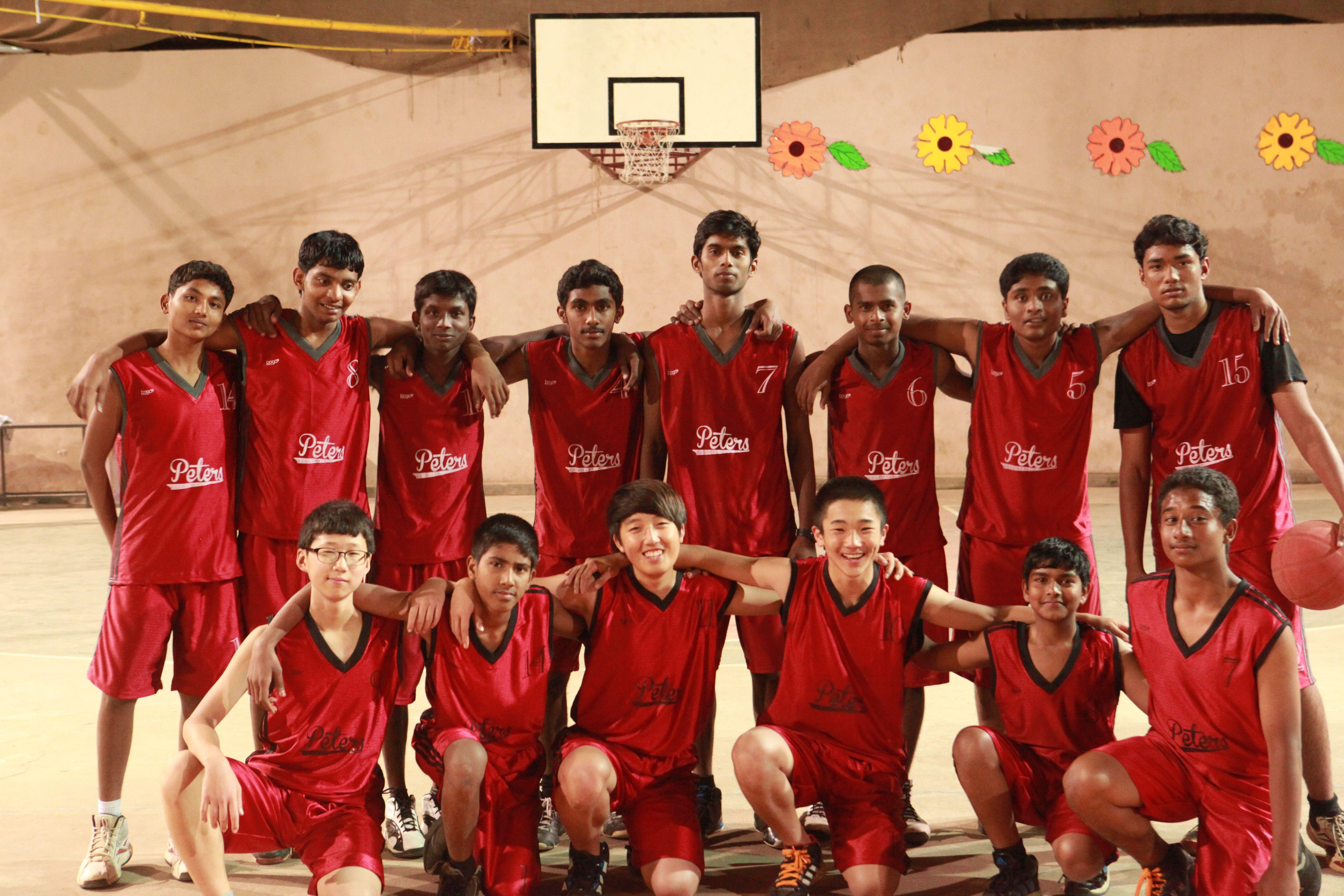 Basket Ball Team Of St Peters School Kodaikanal India St Peters Sports Kodaikanal