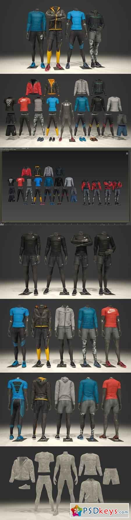 Male Mannequin Nike Pack 1 2123419 | Mockup | Nike, Packing
