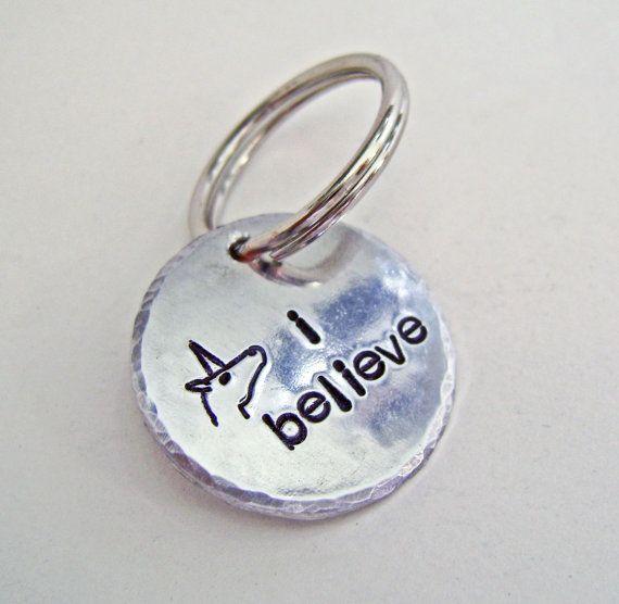 I believe, Unicorn keychain, Custom keychain, purse clip
