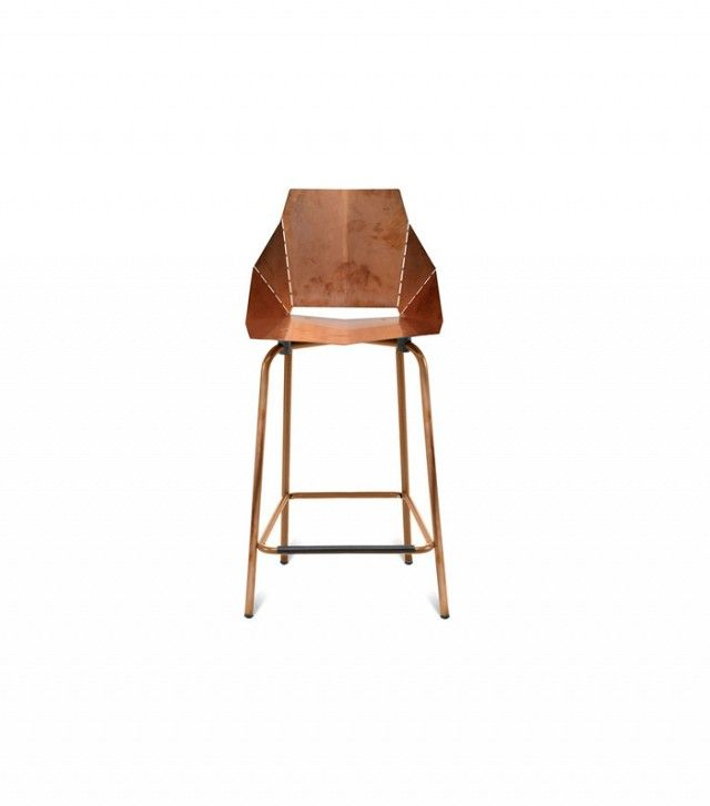 Before and After: A Major Makeover for a Small Space via @mydomaine - Blu Dot Real Good Copper Bar Stool ($399)