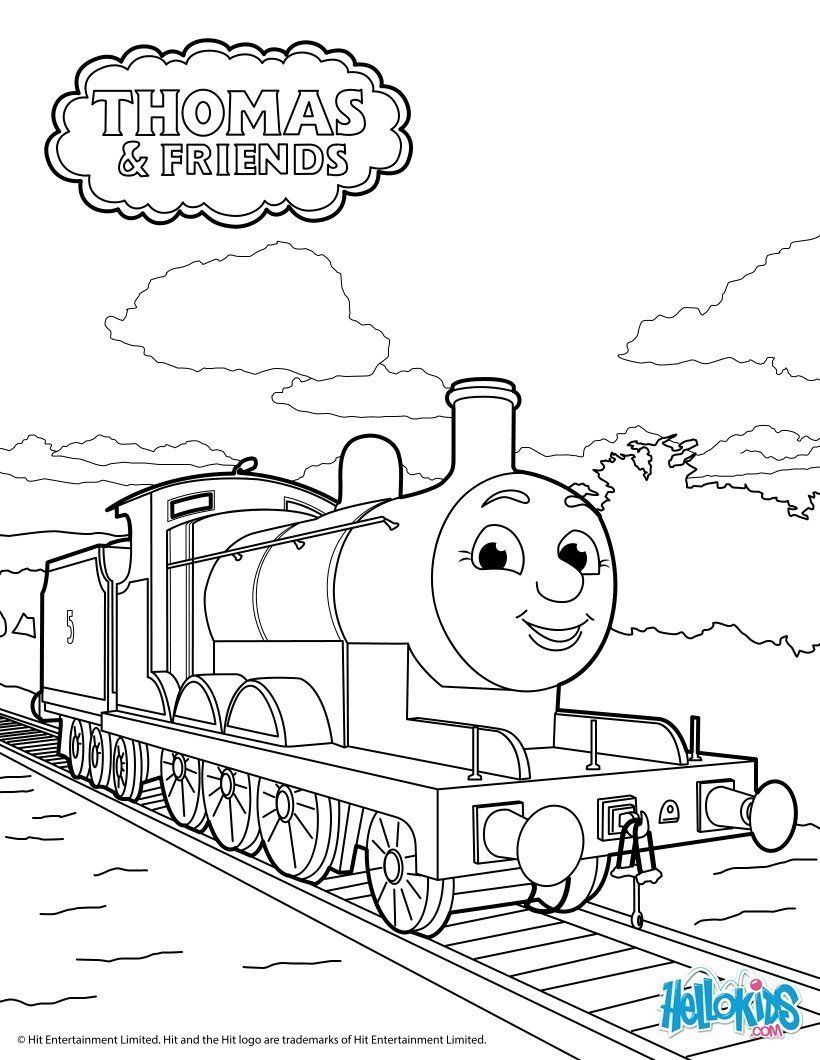 Thomas The Train Coloring James Thomas Friends Coloring Pages Hellokids In 2020 Train Coloring Pages Coloring Pages Inspirational Thomas And Friends