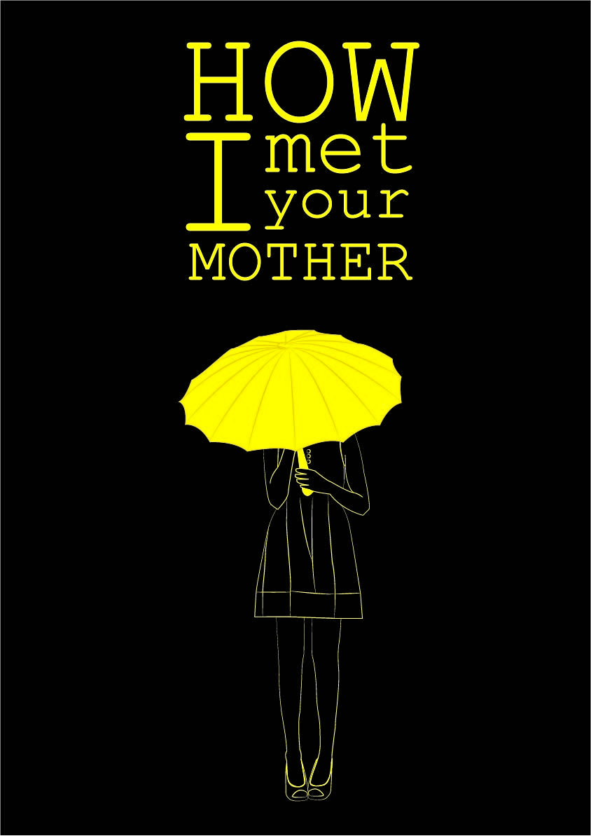 "Yellow Umbrella How I Met Your Mother Poster Minimalista.: "" H..."