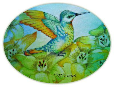 'Mir'acle Art Inspirations: Lovely Hummingbird........
