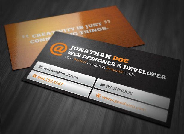 Web Designer Business Card ~ Business Card Templates on Creative ...