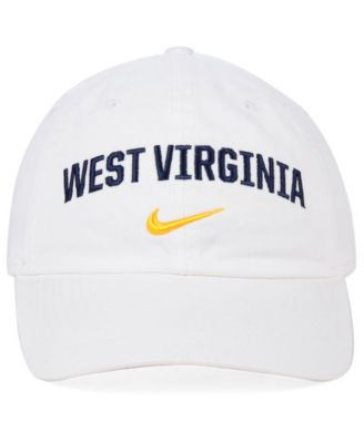 920e9788f9a Nike West Virginia Mountaineers H86 Wordmark Swoosh Cap - White Adjustable