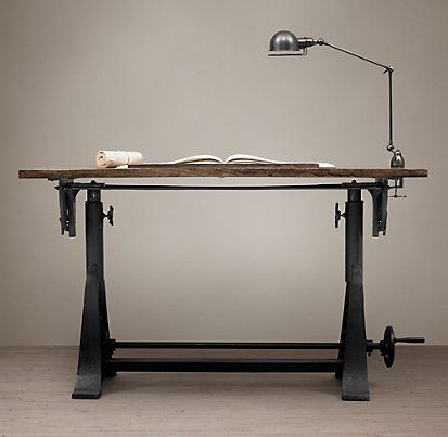 New 1910 American Trestle Drafting Table | Restoration Hardware