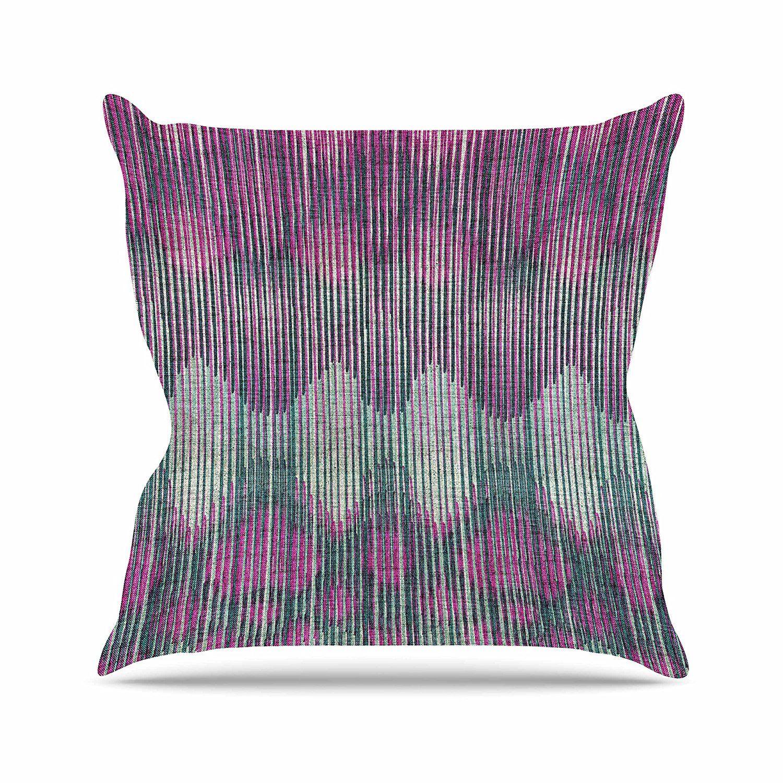 Kess InHouse Famenxt Birds World White Pink Throw Pillow 26 by 26