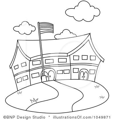 School Building Clipart Black And White Clipart Black And White