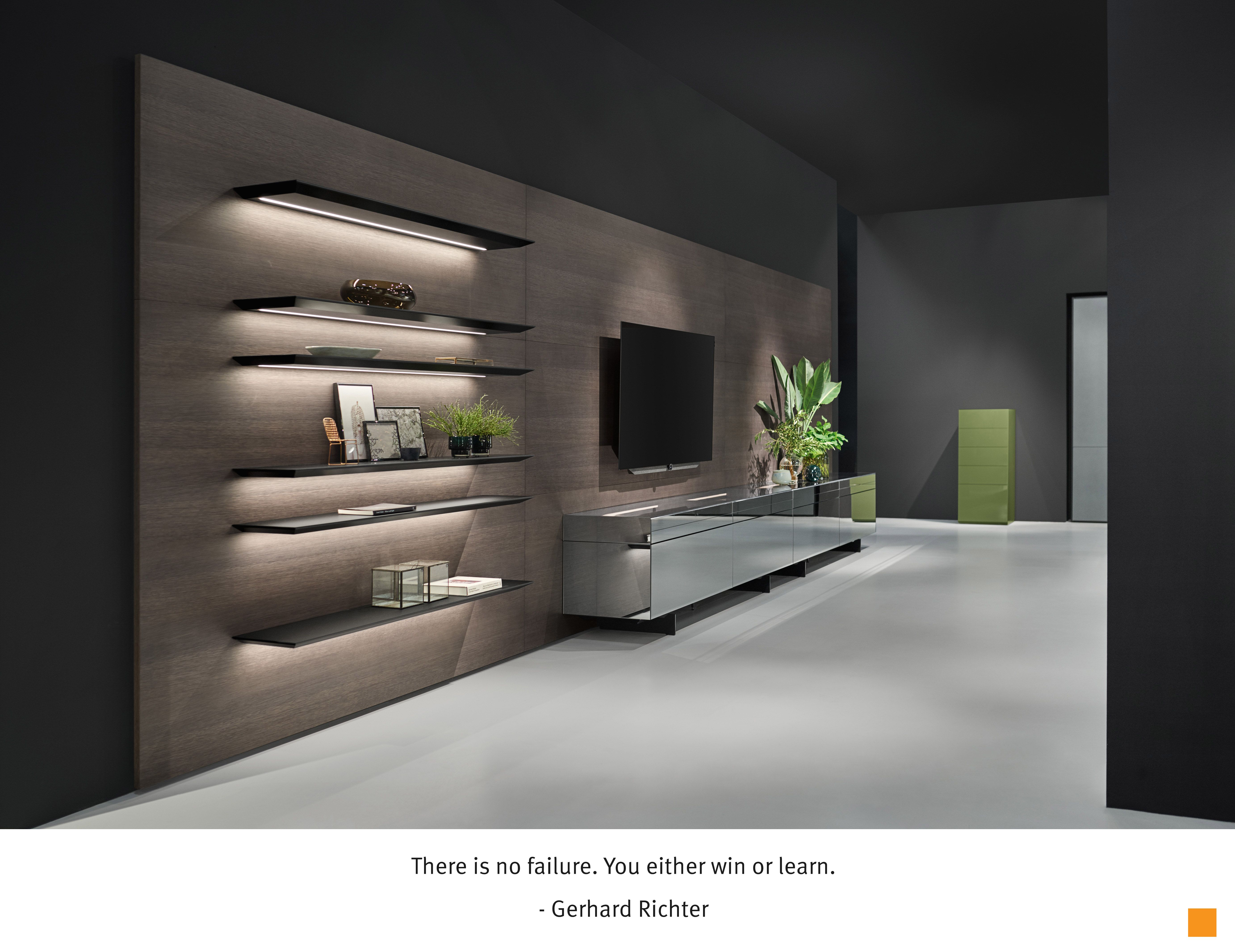 There Is No Failure You Either Win Or Learn Gerhard Richter Simple Display Shelv Kitchen Design Companies German Kitchen Design Kitchen Remodel Plans