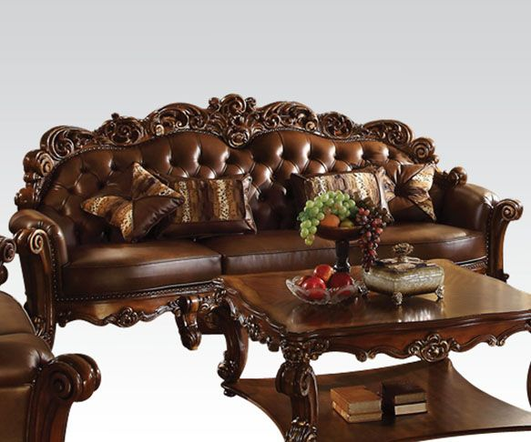 Vendome Bonded Leather Over Sized Sofa · Acme FurnitureBedroom ...