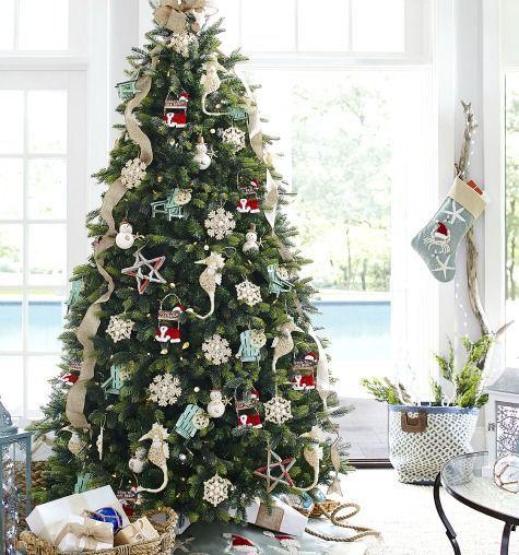 Sea and Beach Inspired Coastal Christmas Decor Collections - coastal christmas decorations
