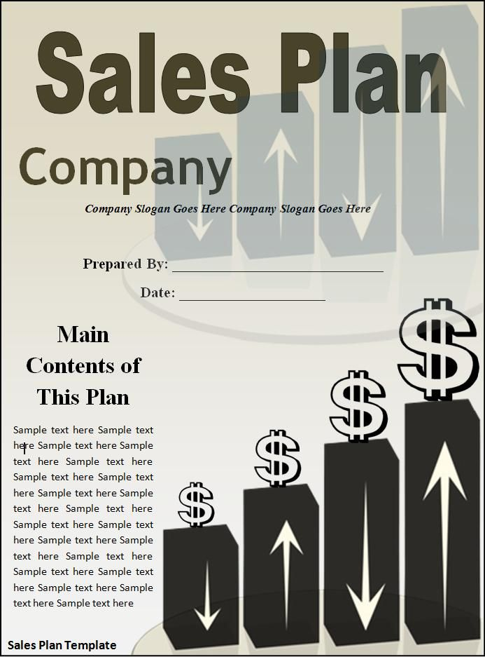 Sales Plan Template  Professional Templates    Template