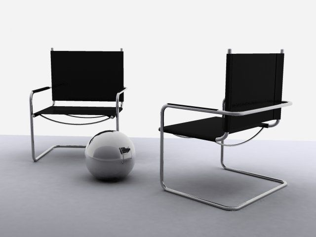 3D Model Chairs c4d, obj, 3ds, fbx