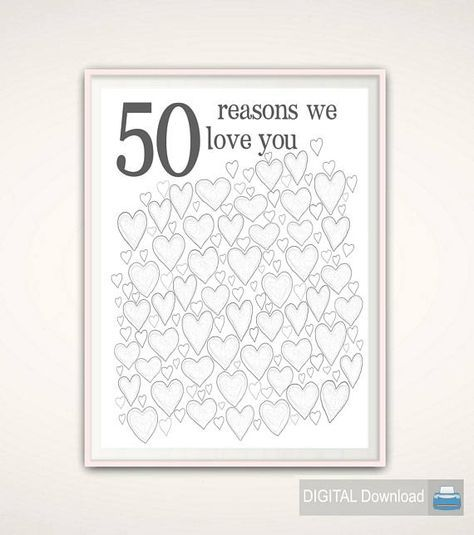 50th Anniversary Gifts, 50th