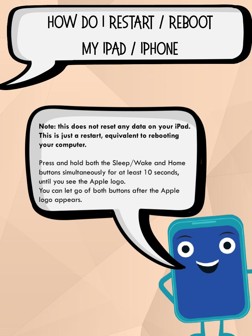 How do I restart/reboot my Ipad/Iphone Iphone notes