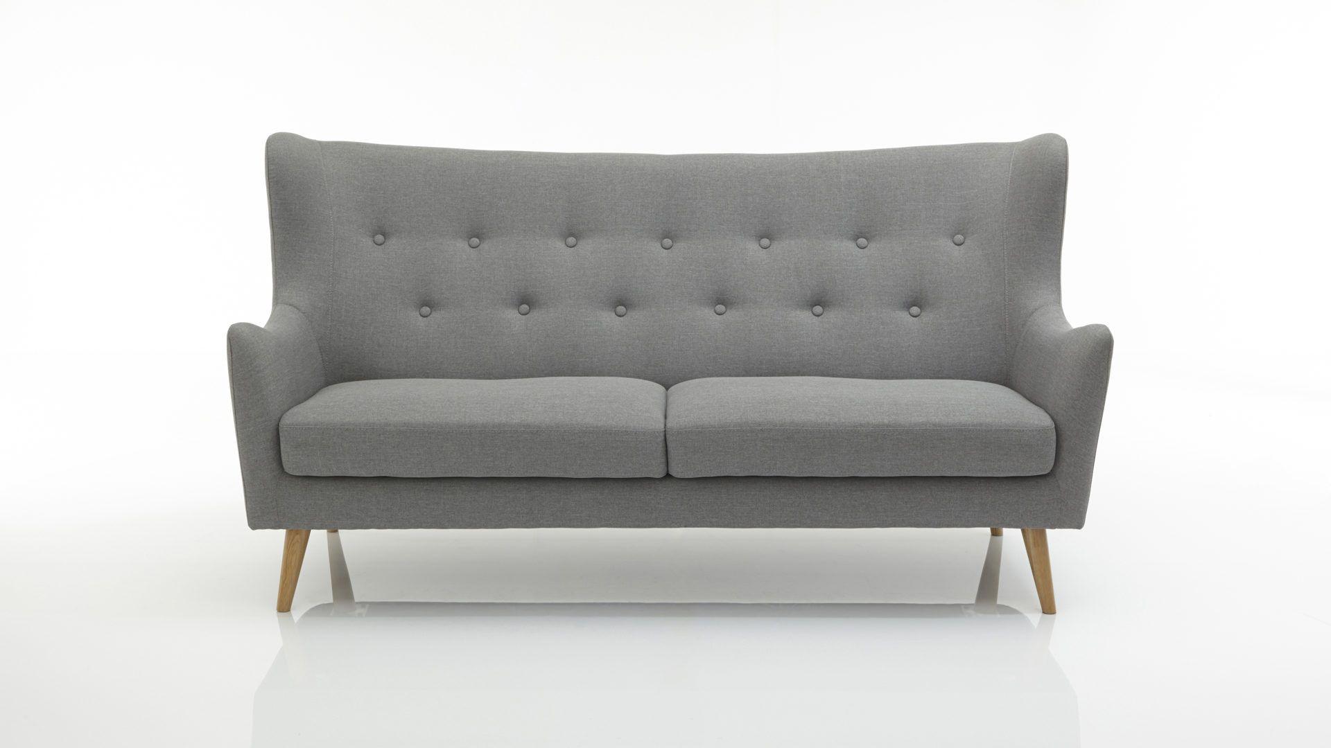 3-Sitzer Sofa im Retro-Stil, ein bequemes Polstermöbel mit Charme ...