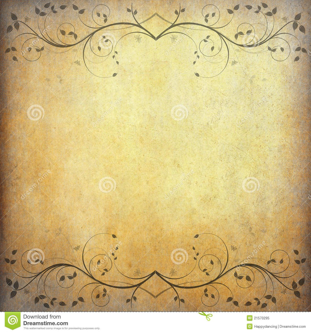 Old Paper Wallpaper: Old Paper Background With Vintage Flower