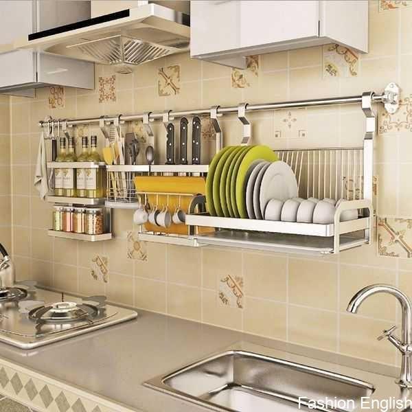 Stainless Steel Multifunction Wall Pan Pot Rack Kitchen Utensils
