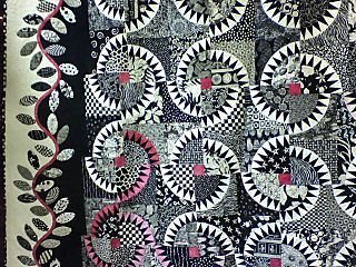 black & white quilts | close up of black and white quilt made with ... : new york beauty quilt patterns - Adamdwight.com