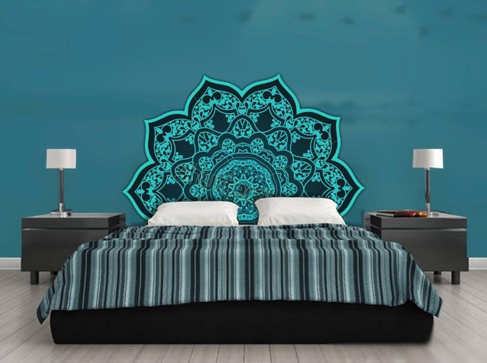 Tête de lit orientale et porte marocaine | Small space | Pinterest ...