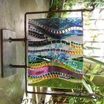 Linda Reed Mosaic Landscape Fused absolutearts.com