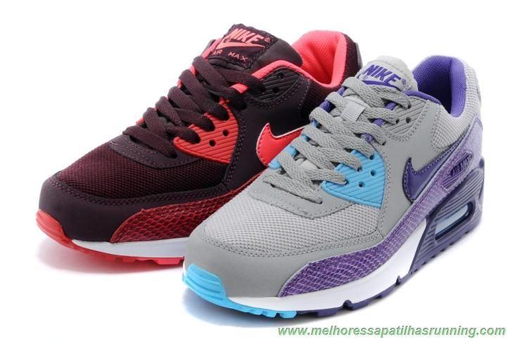 melhores sapatilhas running Borgonha profundo hiper Soco equipe Vermelha  Nike Air Max 90 325213-610