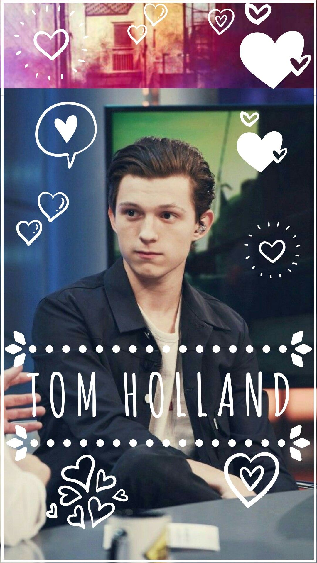 Tom Holland wallpaper!! Made by meeeee!