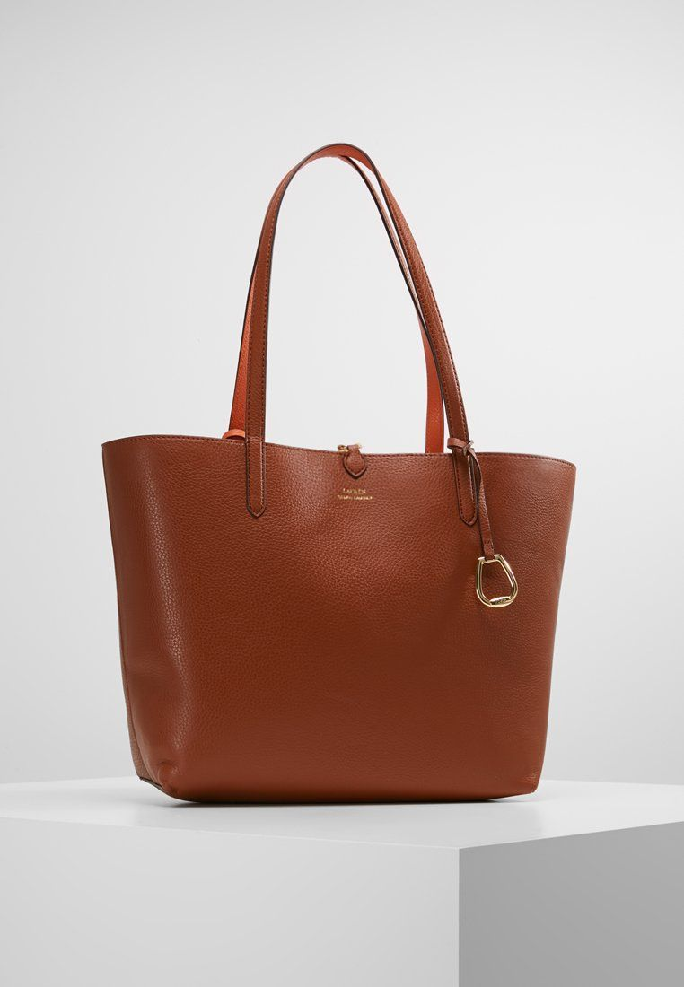 Lauren Ralph Lauren VEGAN TOTE - Sac à main - lauren tan orange - ZALANDO ac53d514bf2