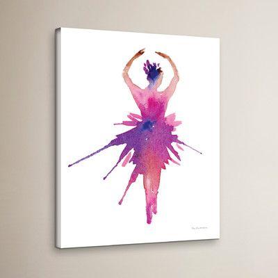 """Viv + Rae Ballet Releve Canvas Art Size: 18"""" H x 14"""" W x 2"""" D"""