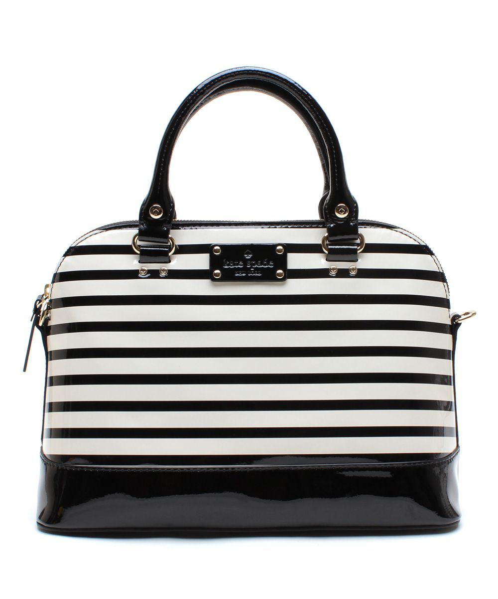Black   Cream Rachelle Wellesley Patent Leather Satchel   Kate Spade! So  beautiful! My christmas gift! 71838ec643