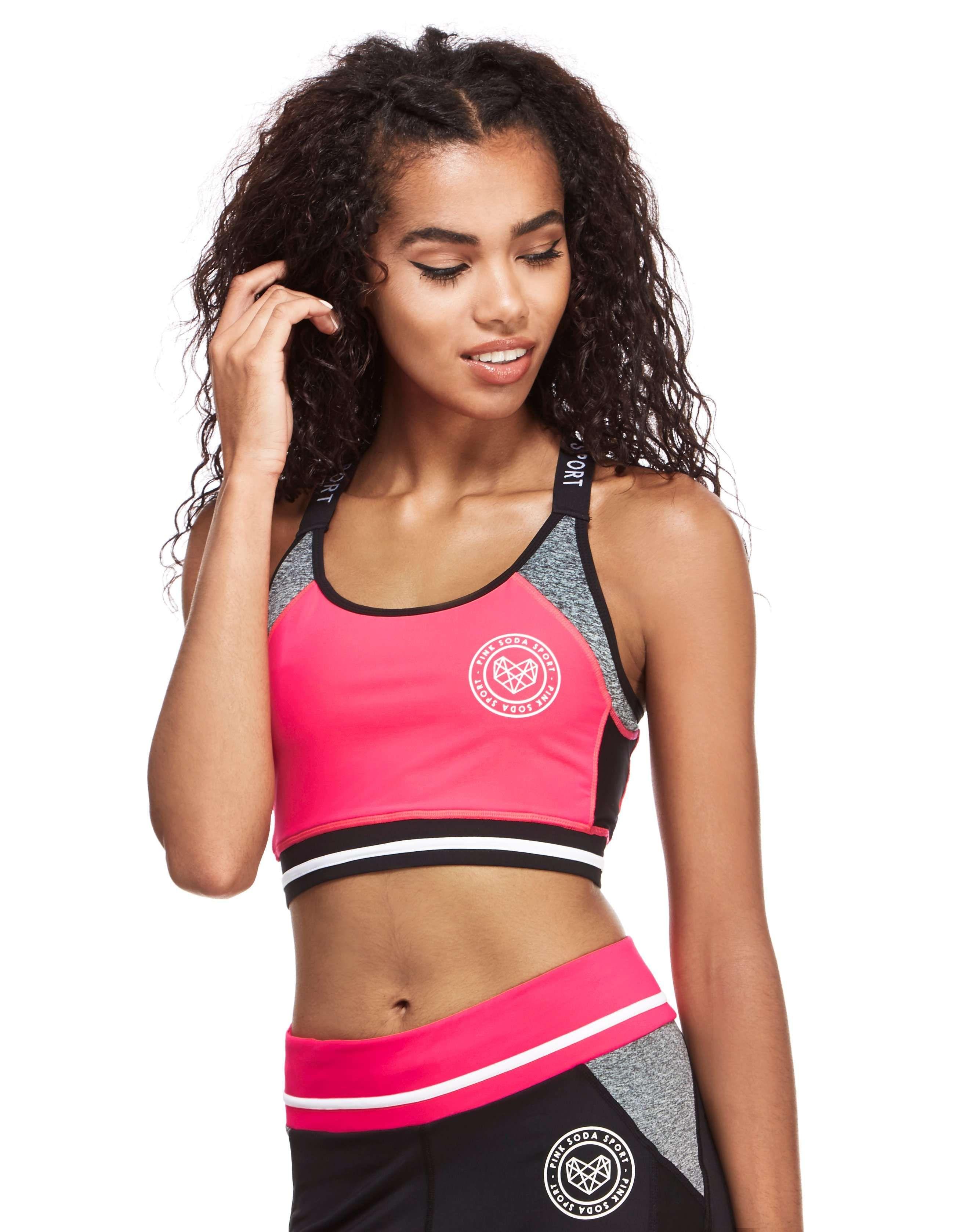 8195831213506 Pink Soda Sport Colour Block Sports Bra - Shop online for Pink Soda Sport  Colour Block Sports Bra with JD Sports