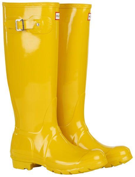 Womens Original Tall Gloss Wellington Boots Vintage Yellow - Lyst