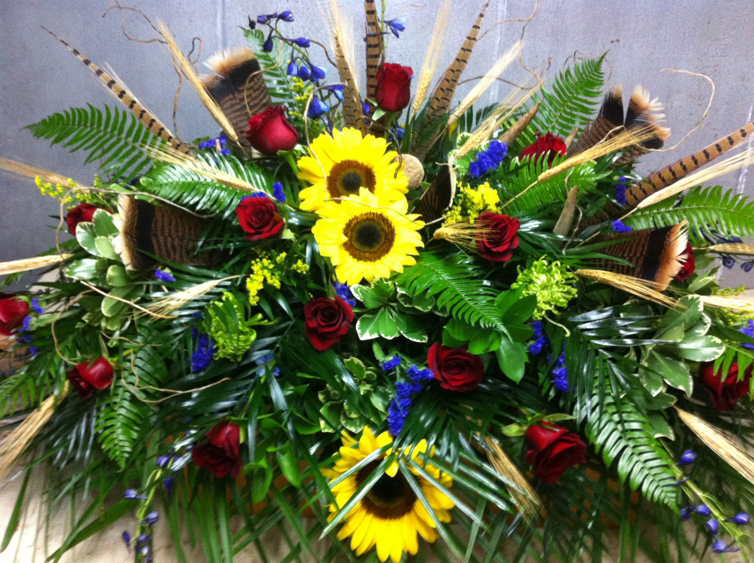 9 best and god made a farmer images on pinterest flower masculine casket spray grave flowerscemetery flowersfuneral flowersfuneral arrangementsflower izmirmasajfo