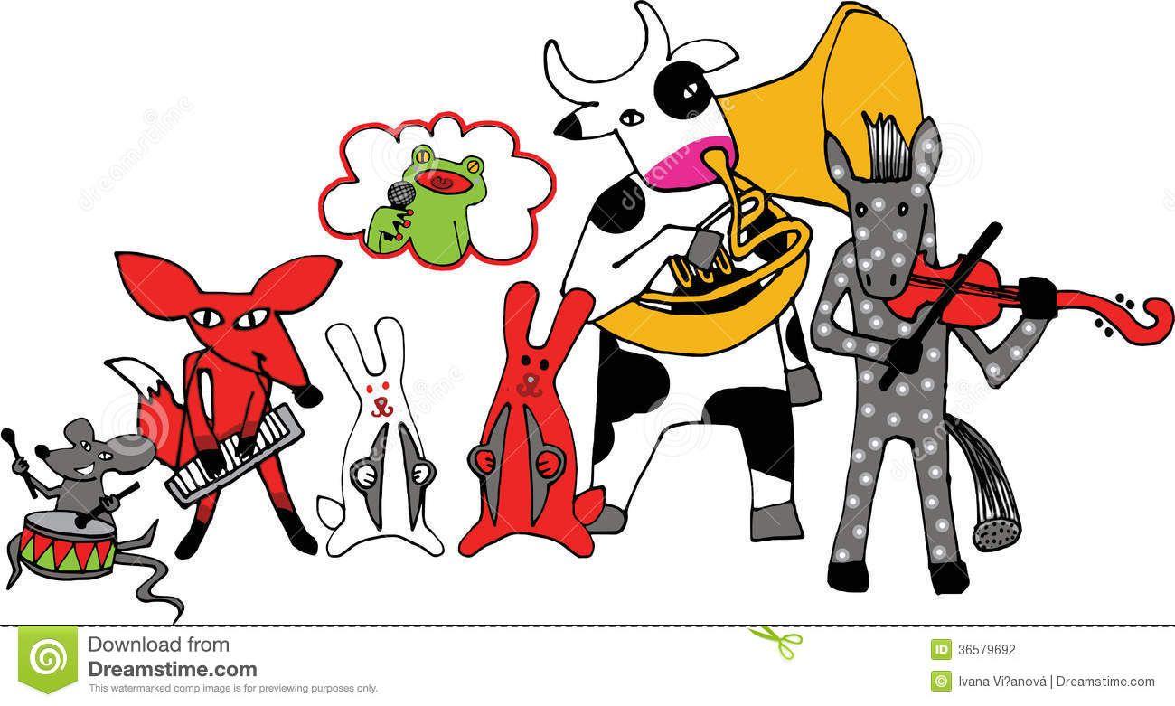 Vintage Animal Playing Music Illustration Illustration Of Animals Playing Musical Instruments Music Illustration Animals Animal Illustration